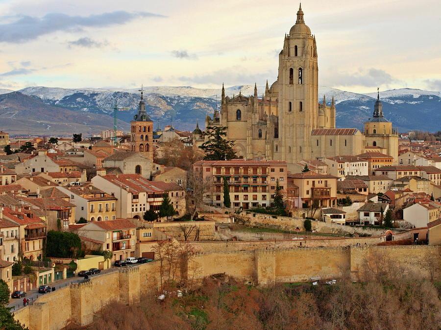 Segovia Cathedral In Autumn. Segovia Photograph by Pepe Rodriguez Cordon