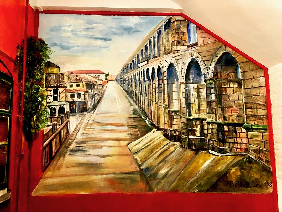 Segovia on the wall by Belinda Low