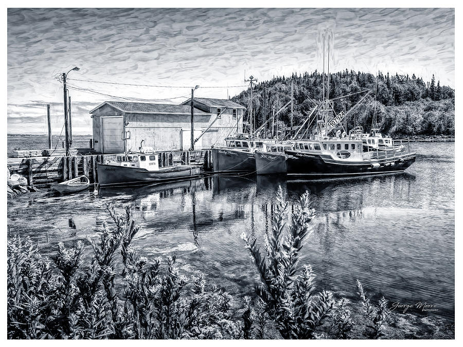Boats Photograph - Seldon Miller Fisheries by George Moore