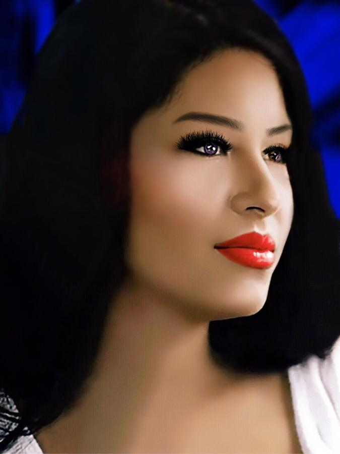 Selena Quintanilla Digital Art - Selena Forever In Our Hearts by Karen Showell