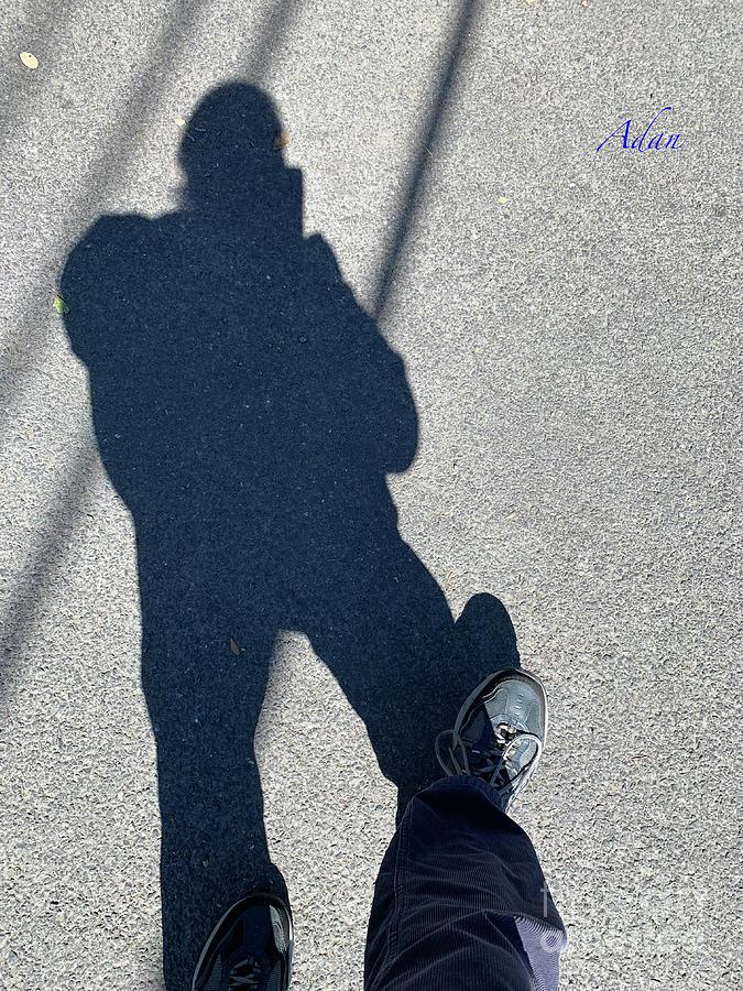 Rm Photograph - Self Portrait 19 - Balancing With My Shadow by Felipe Adan Lerma