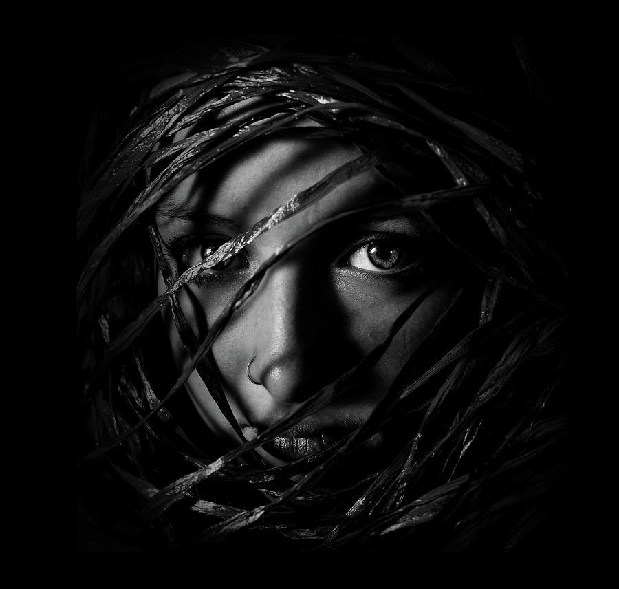 Self Portrait Of Girl Photograph by Portrait, Emotion, People, Art,