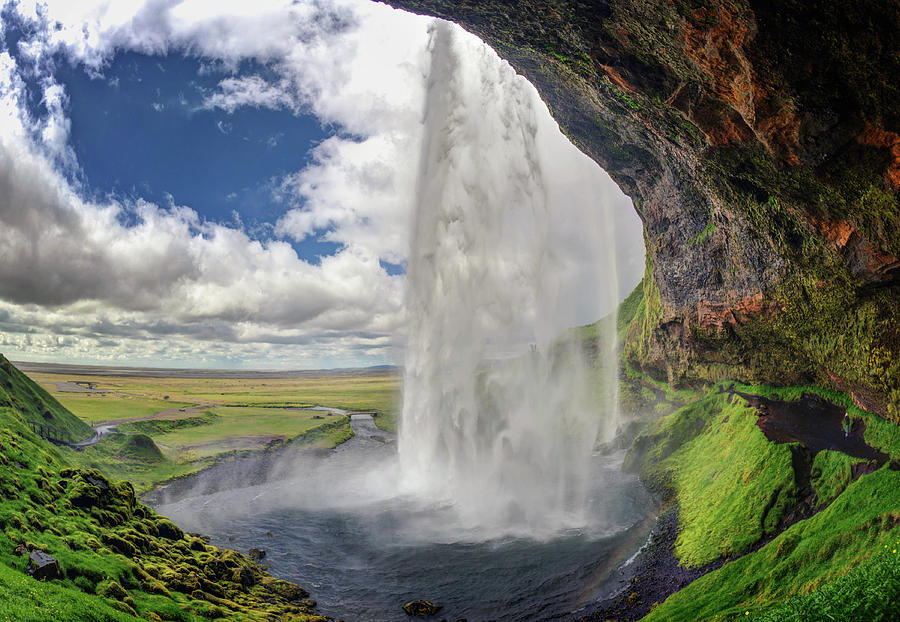 Seljalandsfoss Waterfall, Iceland Photograph by Dietermeyrl