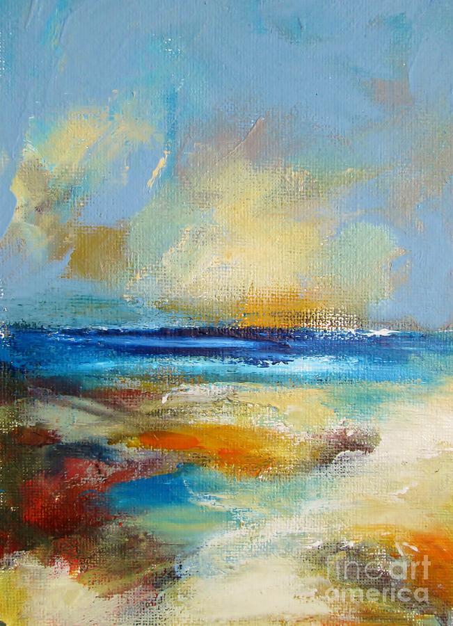 semi abstract beachscape by Mary Cahalan Lee- aka PIXI