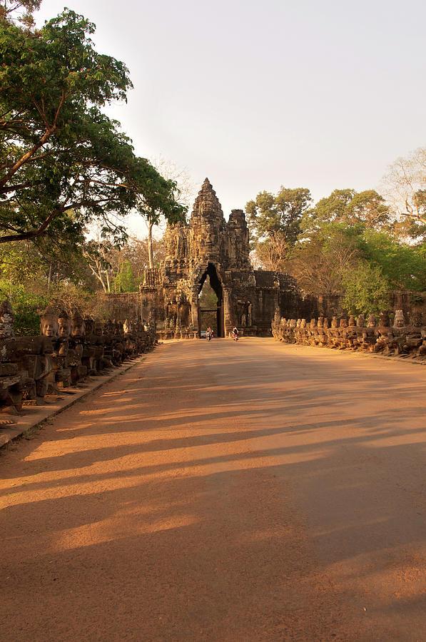 Semi-restored Gate At Angkor Thom Photograph by Jim Simmen