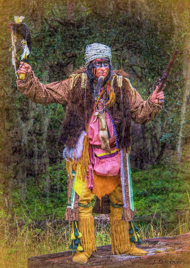 Seminole Photograph - Seminole Indian Shootout Battle Reenactment by Jennifer Stackpole