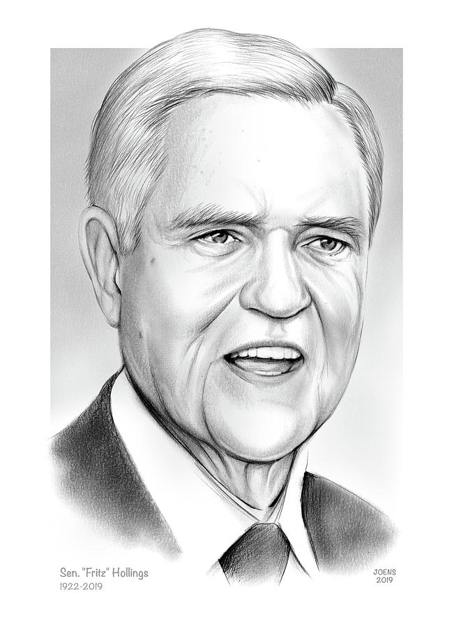 Sen. Fritz Hollings by Greg Joens
