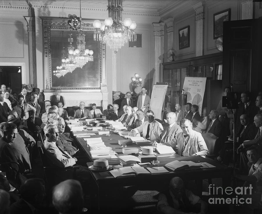 Senate Finance Committe During Meeting Photograph by Bettmann