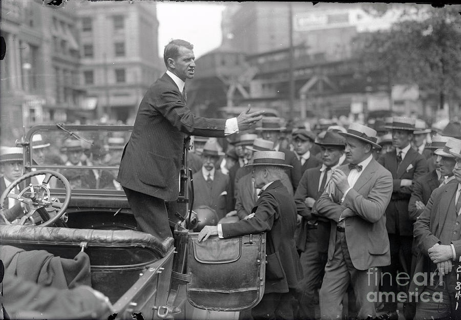 Senator George Thompson Making Speech Photograph by Bettmann