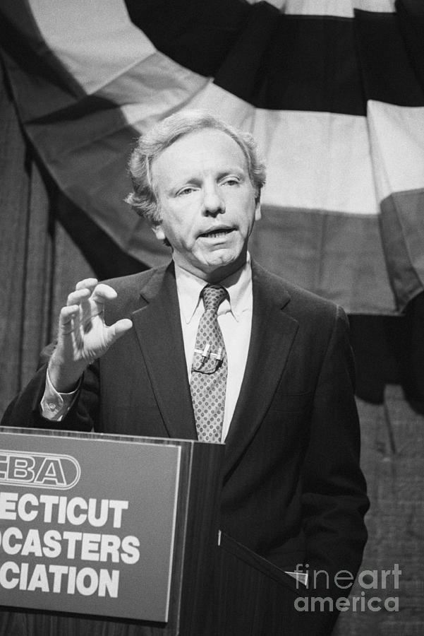 Senator Joseph Lieberman At Debating Photograph by Bettmann