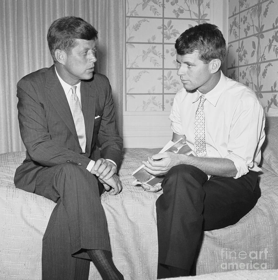 Senator Kennedy And His Brother Robert Photograph by Bettmann