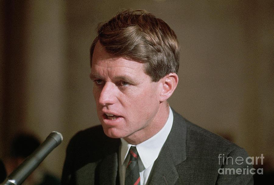Senator Robert Kennedy Addressing Photograph by Bettmann