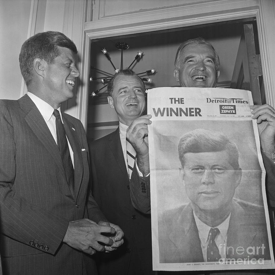 Senators John F. Kennedy And Stuart Photograph by Bettmann
