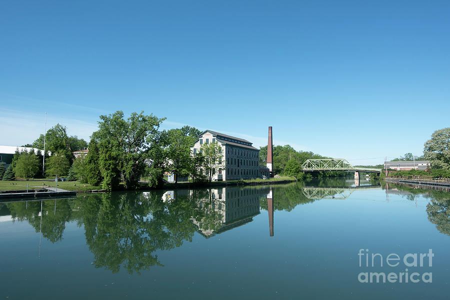 Seneca Falls on the Erie Canal in New York State by Louise Heusinkveld