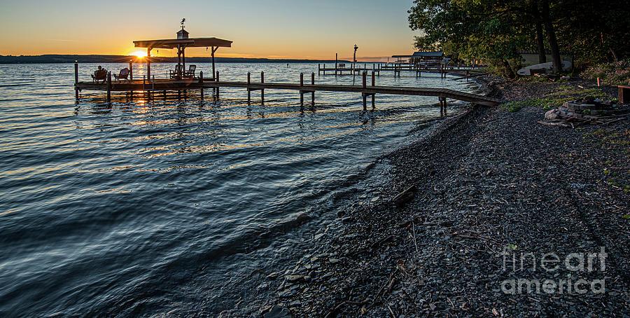 Seneca Lake Boat Dock by Michael D Miller