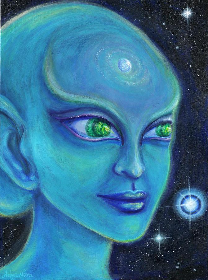 Portrait Painting - Sensa by Adya Nova