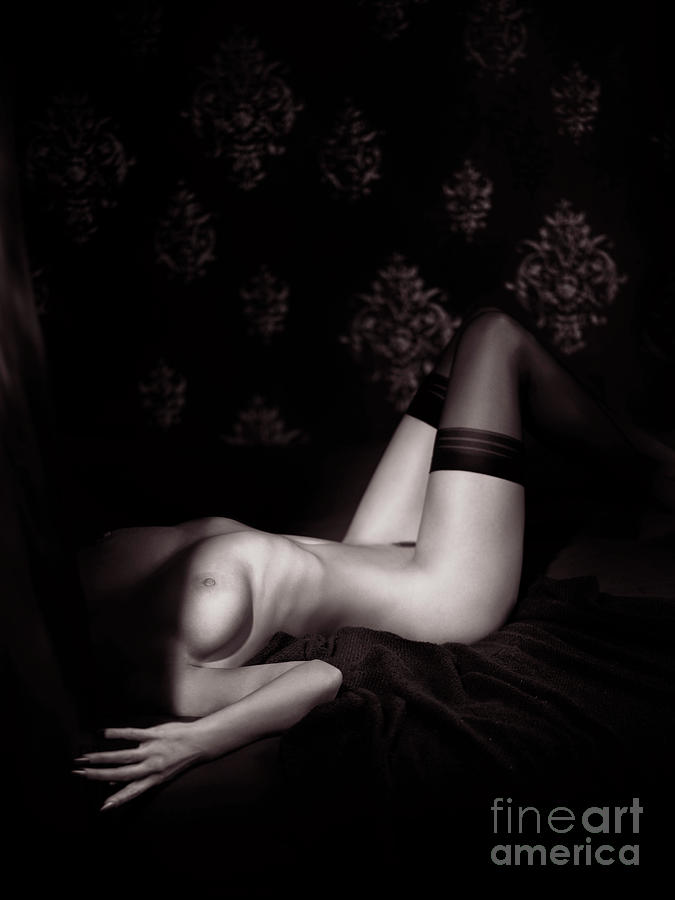Naked woman body tied with japanese shibari rope bondage photograph by maxim images prints