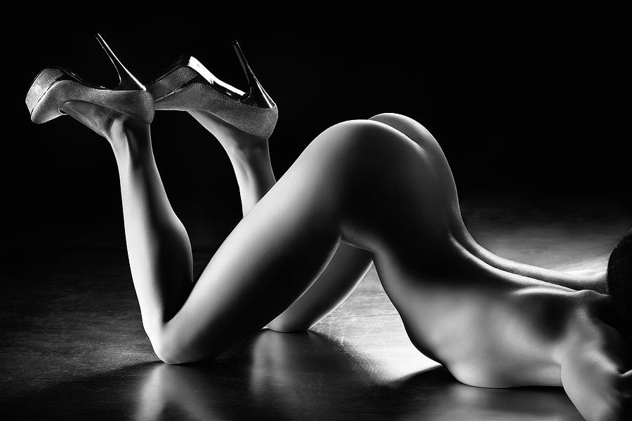 Woman Photograph - Sensual Nude Body Curves by Johan Swanepoel