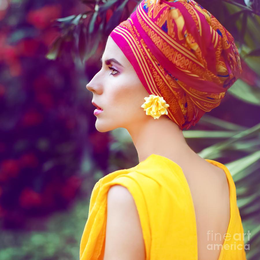 Magic Photograph - Sensual Oriental Girl by Evgeniya Porechenskaya