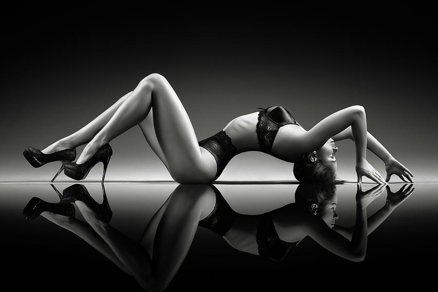 Woman Photograph - Sensual Woman With Lingerie by Johan Swanepoel