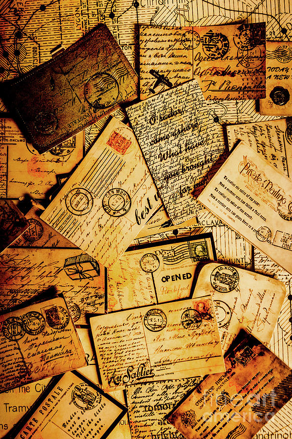 Antique Photograph - Sentimental Writings by Jorgo Photography - Wall Art Gallery