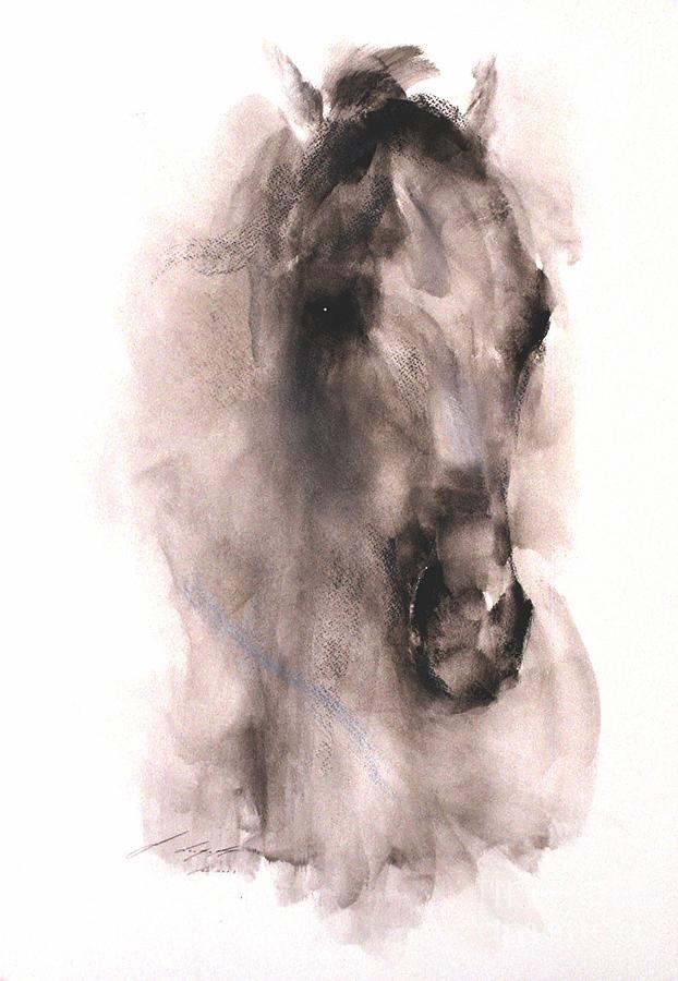 Horse Painting - Sentinel by Janette Lockett