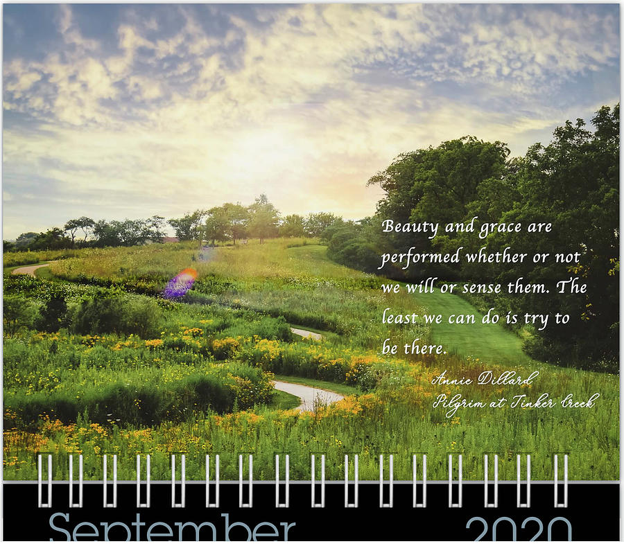 September 2020 Inspirational Calendar Preview by Joni Eskridge