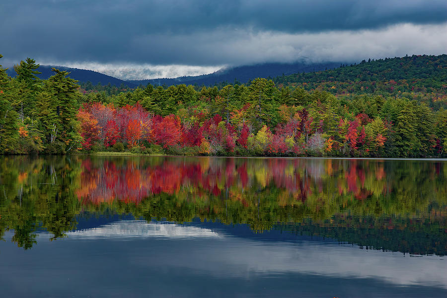 September Autumn Colors on Lake Chocorua by Jeff Folger