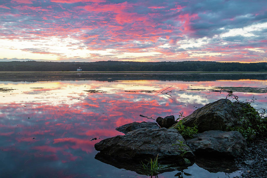 Sunrise Photograph - September Dawn At Esopus Meadows I - 2018 by Jeff Severson