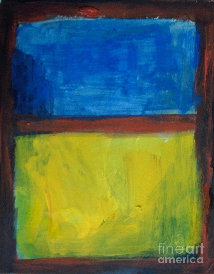 Abstract Painting - September Field Morning - By Vesna Antic by Vesna Antic