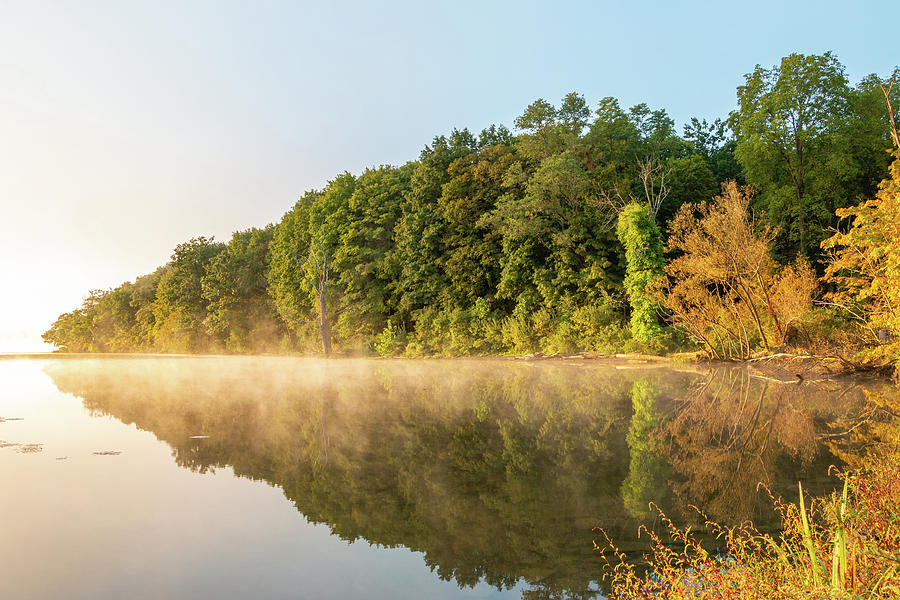 Hudson River Photograph - September Golden Hour At Esopus Meadows by Jeff Severson