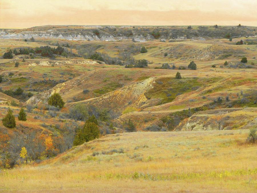 North Dakota Photograph - September Ridgeline Reverie by Cris Fulton