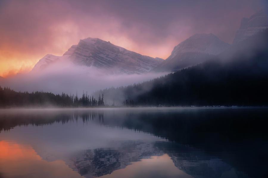 September Sunrise Banff by Dan Jurak