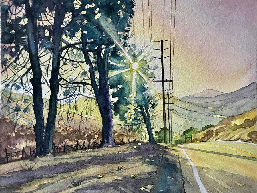 Three Pines On Mulholland Painting