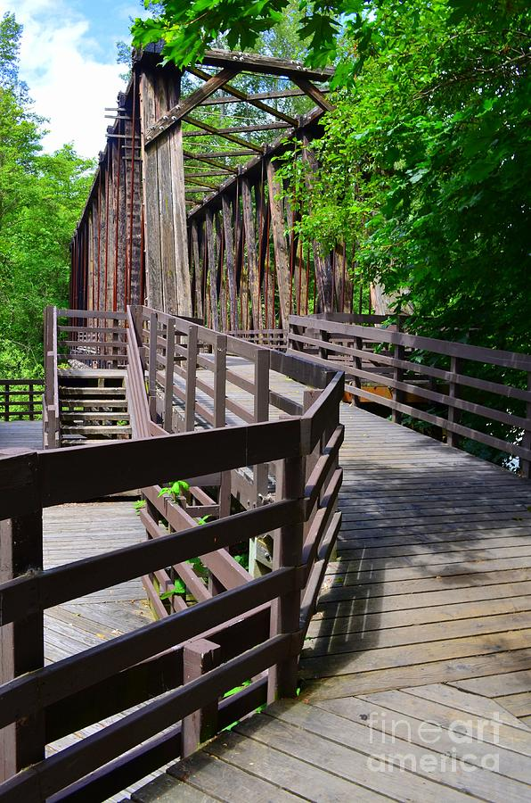 Sequim Bridge Over The Dungeness River by Mary Deal