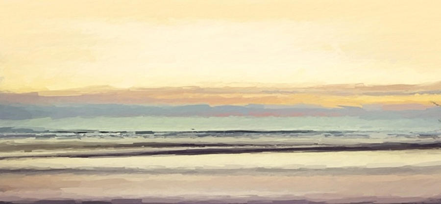 Serene beach abstract 2 by ANTHONY FISHBURNE