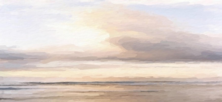 Serene beach abstract by ANTHONY FISHBURNE
