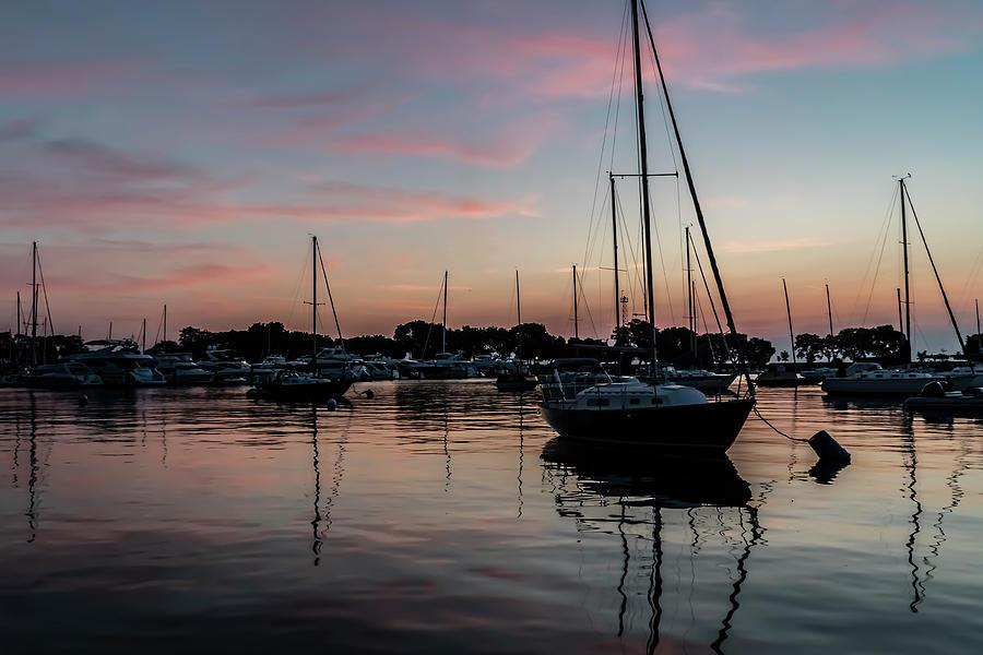 Serene Harbor sun rise  by Sven Brogren