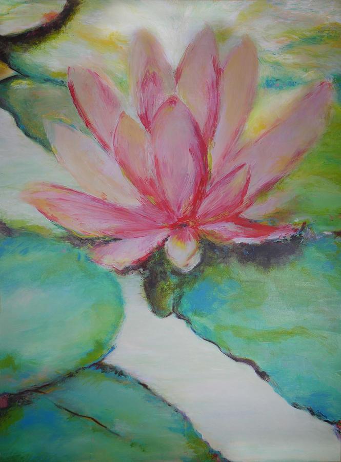 Lotus Mixed Media - Serenity by Adonna Ebrahimi