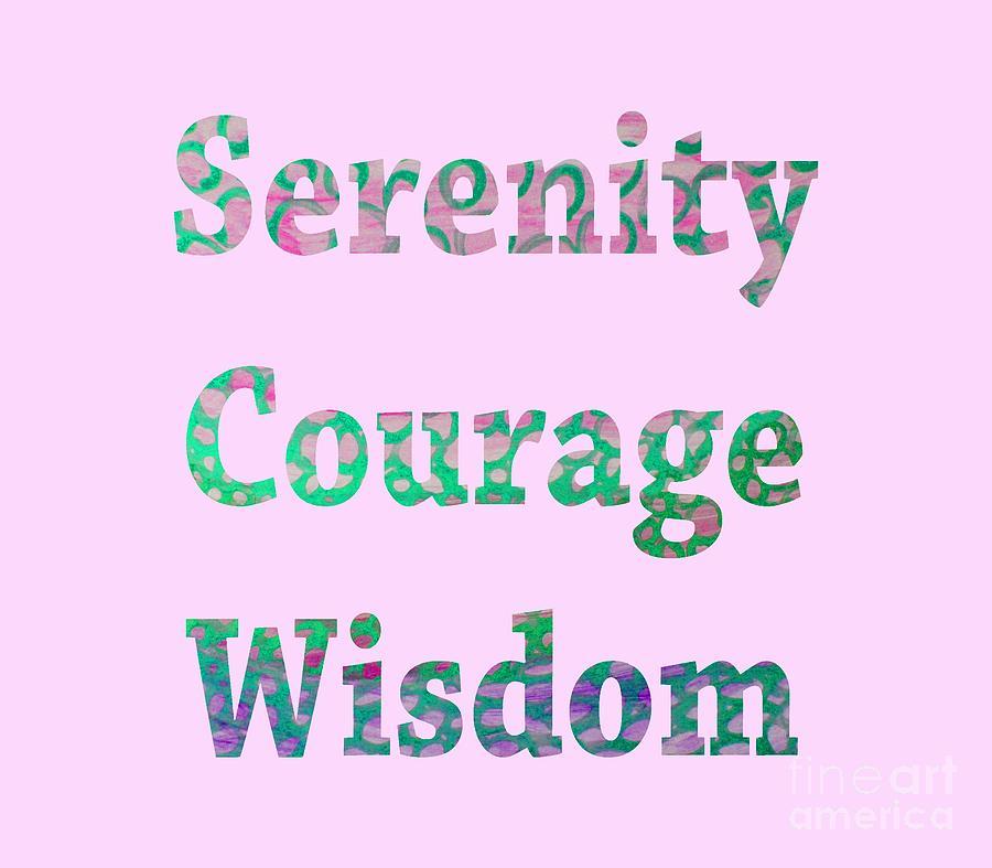 Serenity Courage Wisdom 1002 by Corinne Carroll