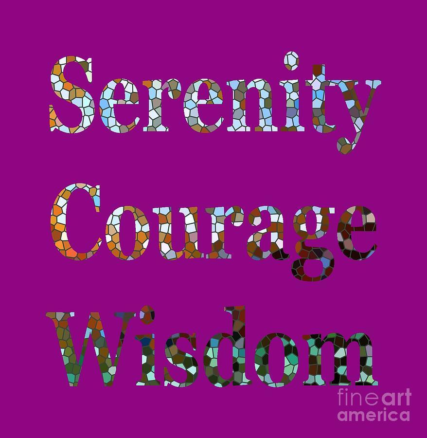 Serenity Courage Wisdom 1005 by Corinne Carroll