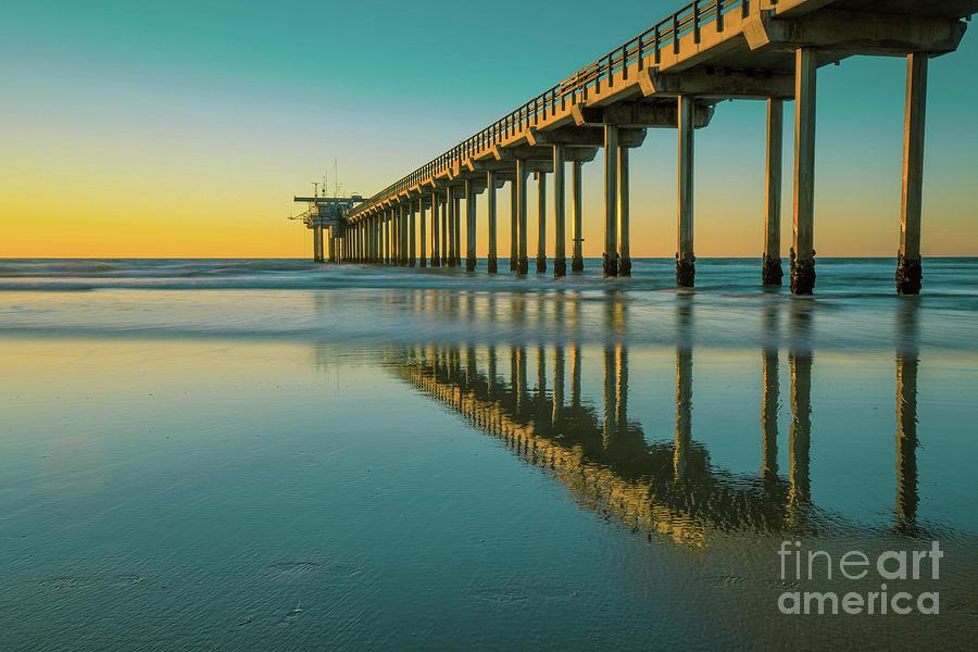 Serenity Scripps Pier La Jolla San Diego by Edward Fielding