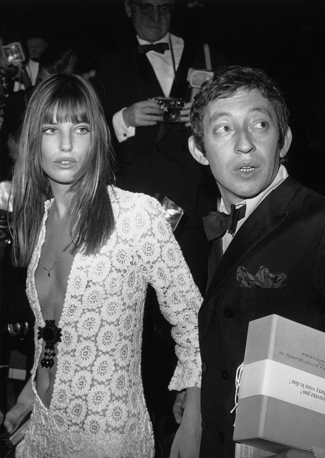Serge Gainsbourg And Jane Birkin Photograph by Keystone-france