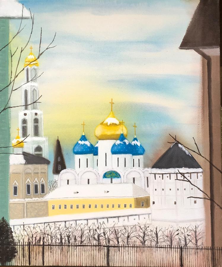 Sergiev Monastery by Tamara Savchenko