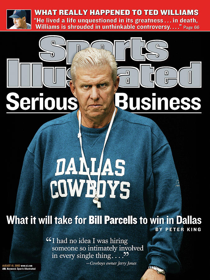 Serious Business What It Will Take For Bill Parcells To Win Sports Illustrated Cover Photograph by Sports Illustrated