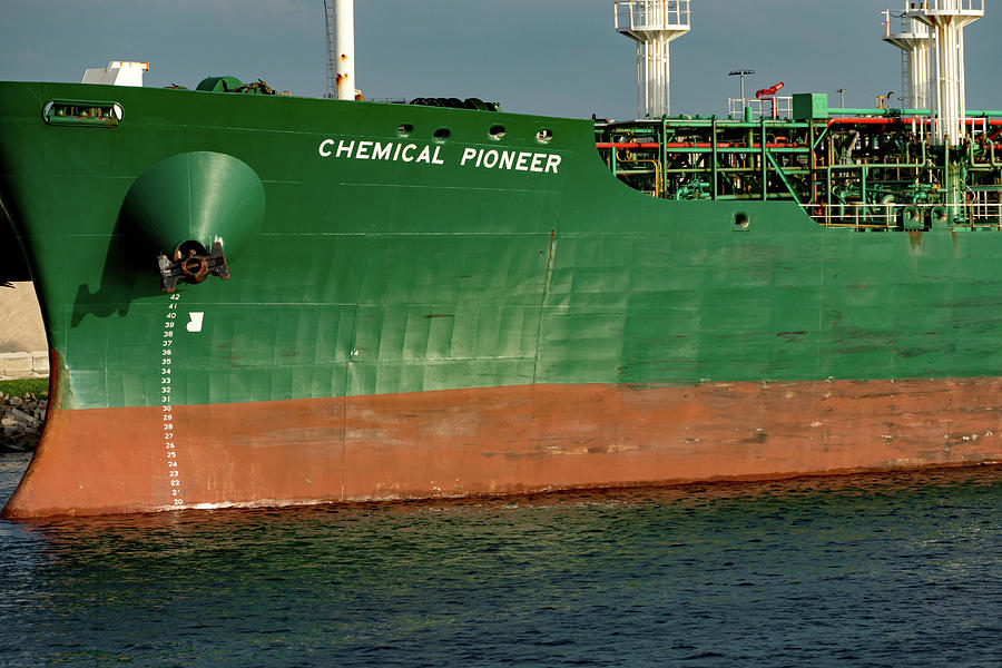 Serious Shipping on the Tampa Channel by Margaret Zabor