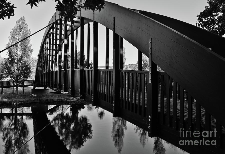 Serta Photograph - Serta Wooden Bridge In Monochrome by Angelo DeVal