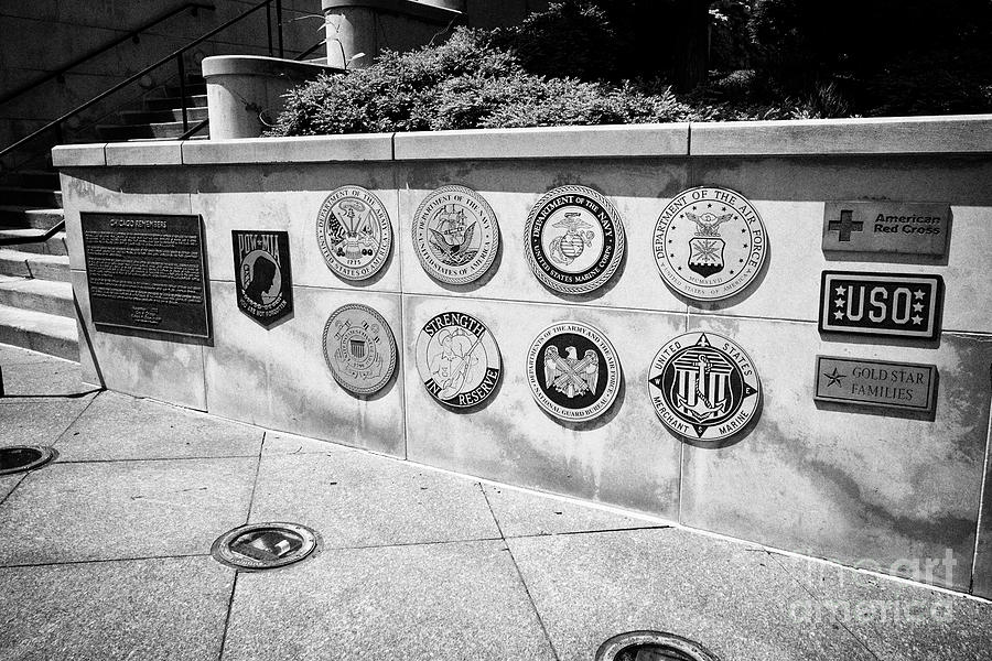 Chicago Photograph - service plaques at the Chicago Vietnam Veterans memorial chicago illinois united states of america by Joe Fox