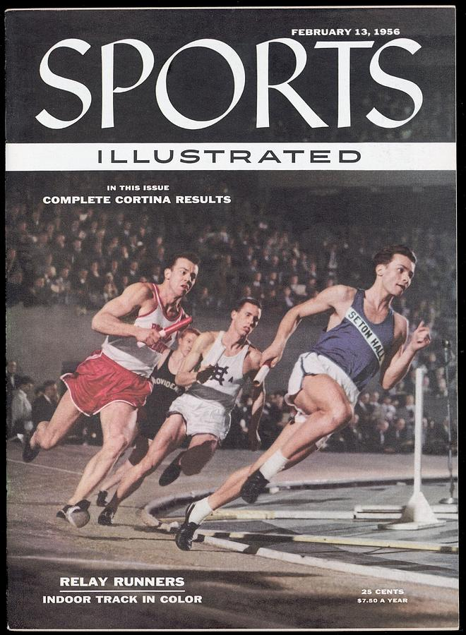 Seton Hall Charles Maute, 1955 Nyac Indoor Games Sports Illustrated Cover Photograph by Sports Illustrated