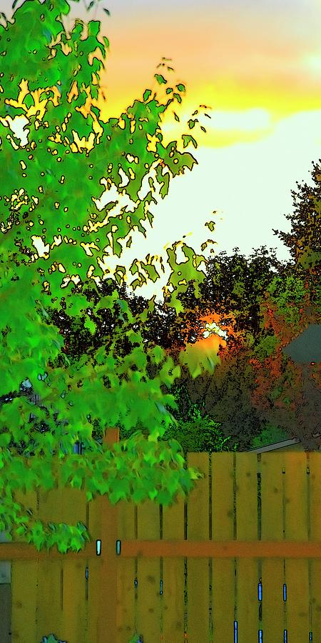 Setting Sun Color Sketch by Jerry Sodorff